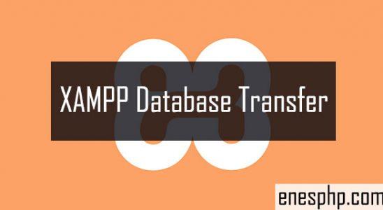xampp database transfer